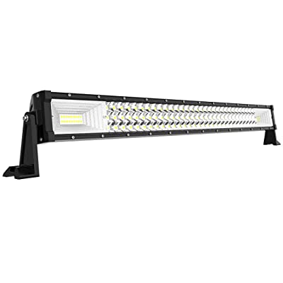 "AUTOSAVER88 32"" LED Light Bar Triple Row Brighter 7D 378W 37800LM Off Road Driving Light No-Foggy Lens Compatible with Jeep Trucks Boats ATV Cars: Automotive"