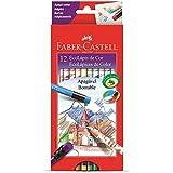 Lápis de Cor Apagável 12 Cores Redondo com Borracha Faber-Castell