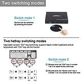 KVM Switch HDMI 2 Port Box, Share 2 Computers