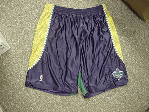 Gustavo Ayon Mardi Gras Adidas New Orleans Hornets Game Worn Shorts