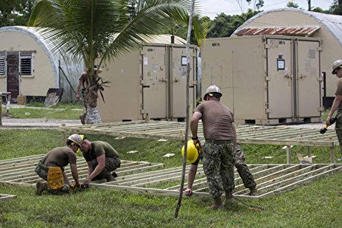 Home Comforts U.S. Navy Seabees and Marines construct decks