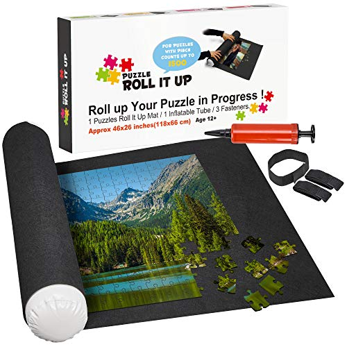 Puzzle Roll Up Mat - Store and Transport Jigsaw Puzzles Up to 1500 Pieces - 46