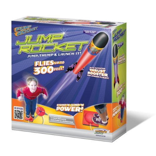 Original Geospace Jump Rocket - Launcher and 3 Rocket Set (Launcher Pump)