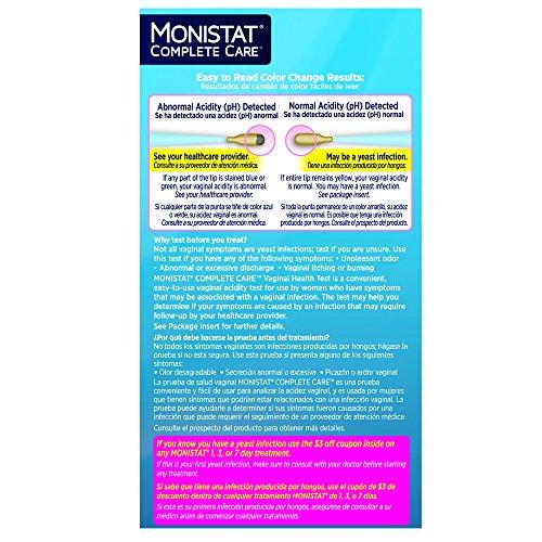 Amazon Monistat Care Vaginal Health Test 2 Test Swabs Pack