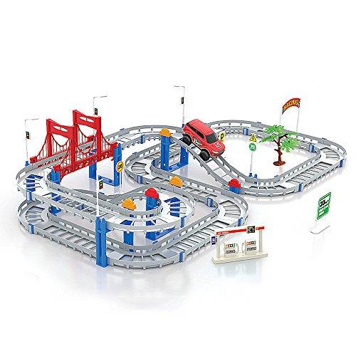 Cute Sunlight Toys for Boys Girls Vehicle Multi-Track Rail (Light Rail Track)
