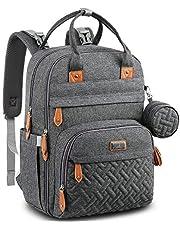 YKSFPW Baby skötväska ryggsäck, blöjbyte ryggsäck blöjväskor med skötbädd och napphållare för mamma och pappa