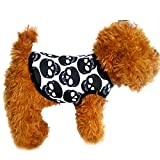Barlingrock Dog Sweater Christmas for Small Dog, Pet Clothes, Dogs Clothes Dog Vest Dog T-Shirt, Pet Puppy Small Dog Cat Pet Clothes Skull Vest T-Shirt Apparel Clothes