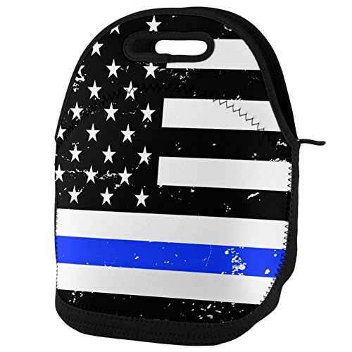 Old Glory Distressed Thin Blue Line American Flag Lunch Tote Bag Multi Standard One Size