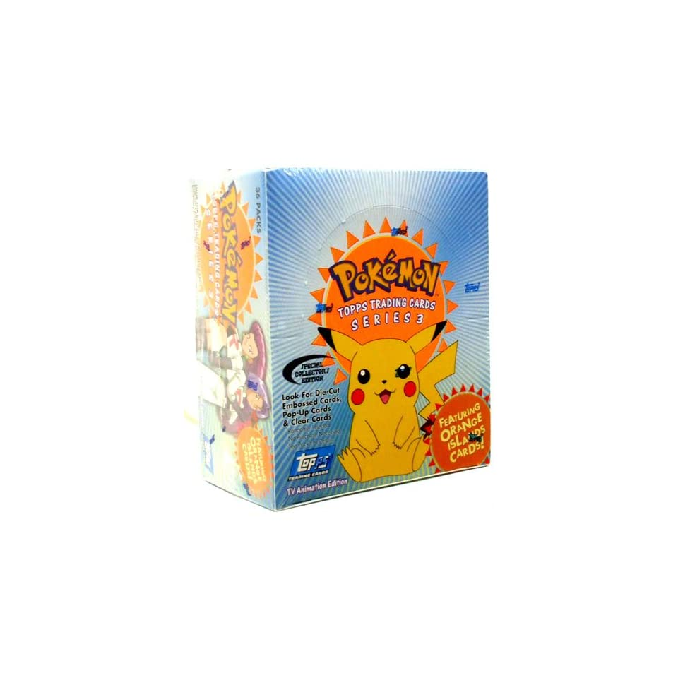 Topps Pokemon Trading Cards TV Animation Series 3 Booster Box 36 Packs