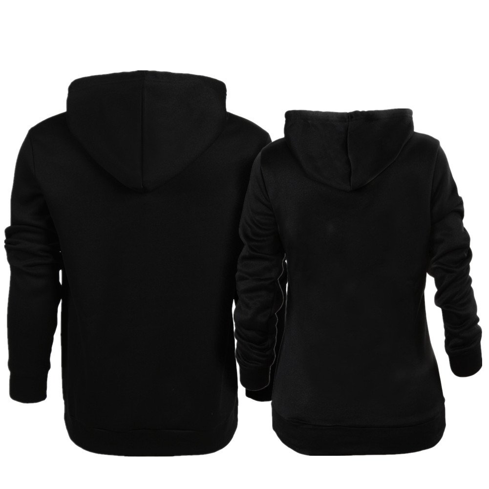 YJQ Matching Couple His and Her Buck and Doe Pullover Hoodie Sweatshirt Women M + Men L by YJQ (Image #2)