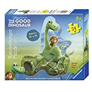 Amazon Lightning Deal 99% claimed: Ravensburger The Good Dinosaur: Arlo & Spot Shaped Floor Puzzle (24 Piece)
