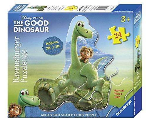 24 Pcs Childrens Floor Puzzle (Ravensburger The Good Dinosaur: Arlo & Spot Shaped Floor Puzzle (24)