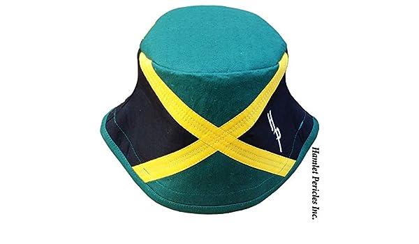 7bd4033725536 Amazon.com  Jamaica Flag Green-top Bucket Hat