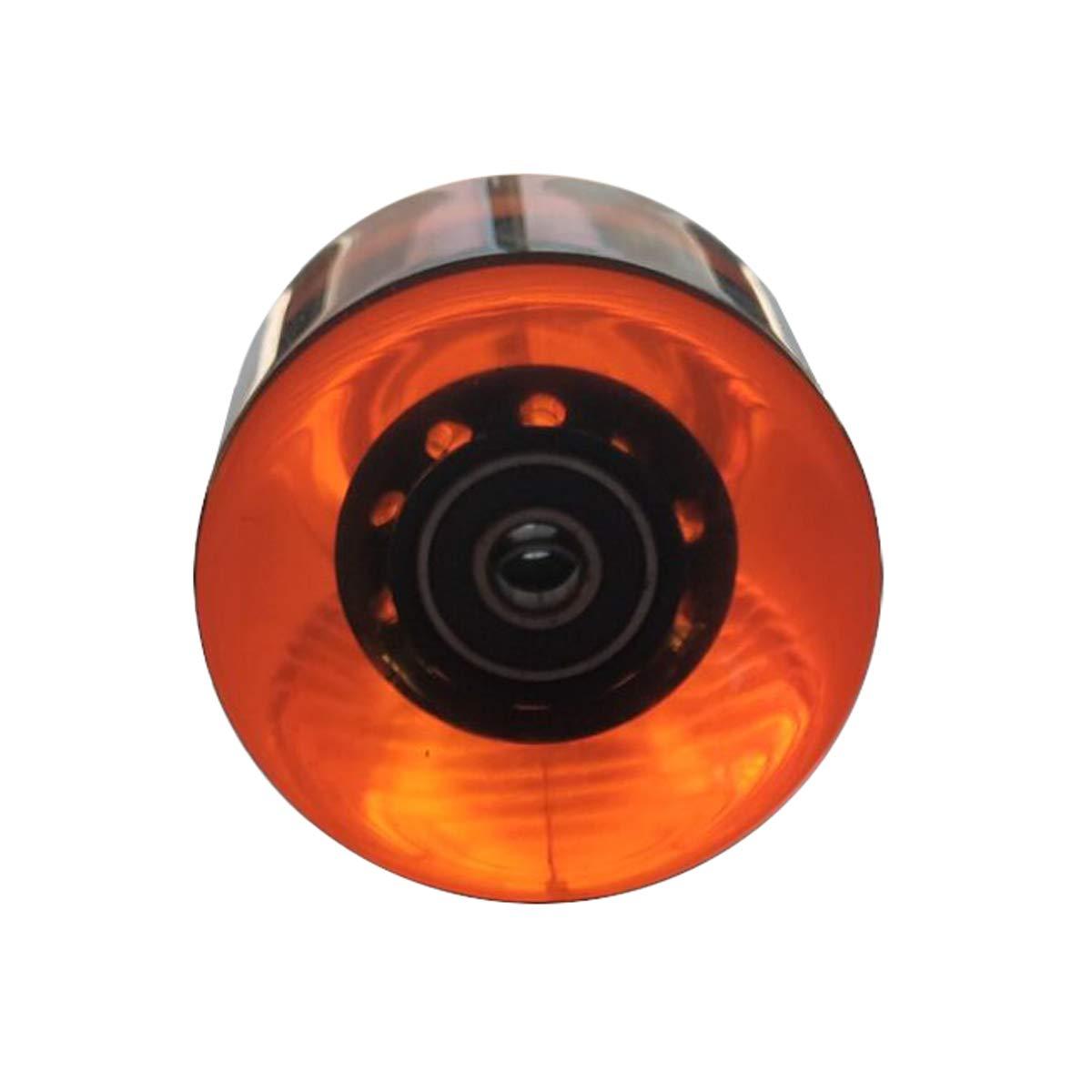 Juego de 4 ruedas transparentes transparentes para monopatín de 59 mm Incluye 8 piezas ABEC 9 rulemanes Rueda de crucero