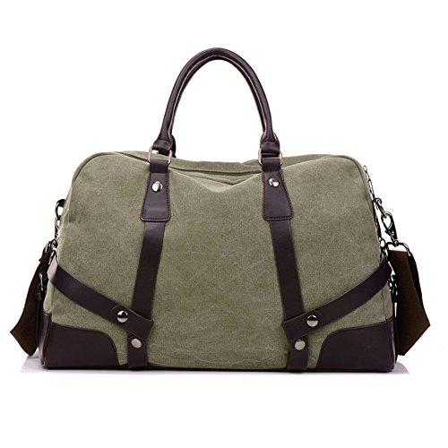 Hombres bolsos,bolso de la lona,bolsas,solo hombro /bandolera-Gris verde del ejército