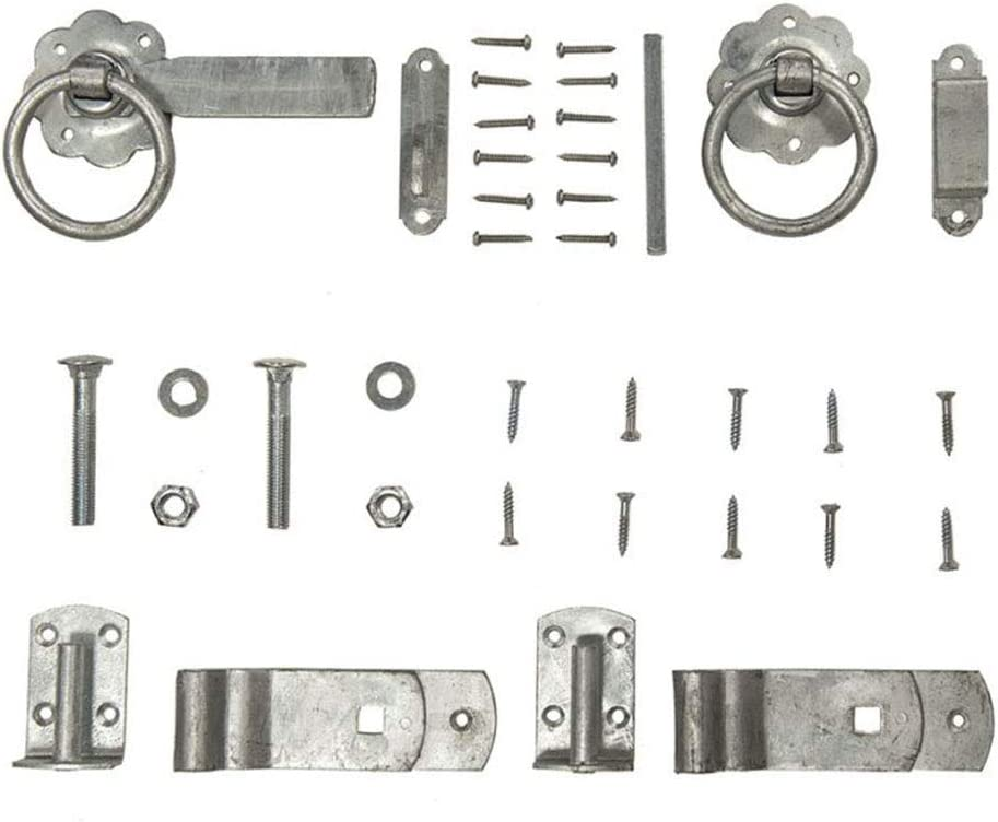 Forest Garden Pad Bolt Set Silver Galvanised Finish Fastening and Fixings