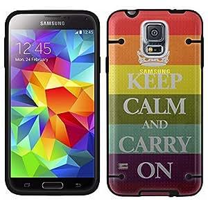 Samsung Galaxy S5 Gay Pride Keep Calm See Through Case with Black Trim by ruishername