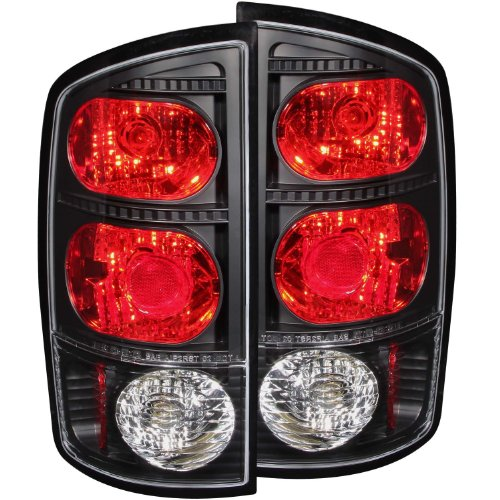 2006 Dodge Ram Tail Lights - Anzo USA 211045 Dodge Ram Black Tail Light Assembly - (Sold in Pairs)