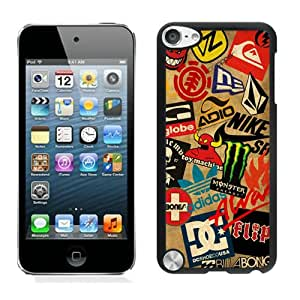 Newest iPod Touch 5 Case ,Classic Skateboard Logos Black iPod Touch 5 Screen Case Unique And Durable Custom Designed Cover Case