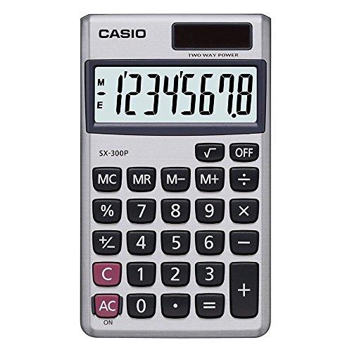 Calculadora de bolso com visor 8 dígitos e acab. aço escovado