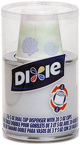 Dixie 20 Count Dual Cup Dispenser, Silver ()
