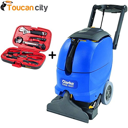 Clarke EX40 16ST Self-Contained Upright Carpet Cleaner 56265504 and Toucan City Tool kit (9 – piece) by Toucan City