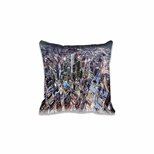 Home Decor Custom Toronto Throw Pillow Covers Gift - Modern Canada and Ontario Cushion Case Cotton Polyester Bed Pillowcase Two Sides Size 40x40 (Dark Side Alice In Wonderland)