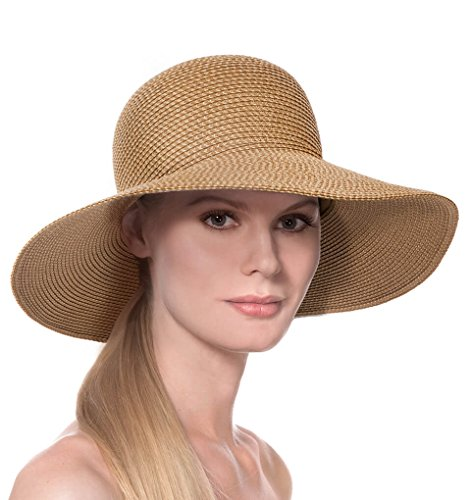 Eric Javits Luxury Fashion Designer Women's Headwear Hat - Hampton - Natural by Eric Javits