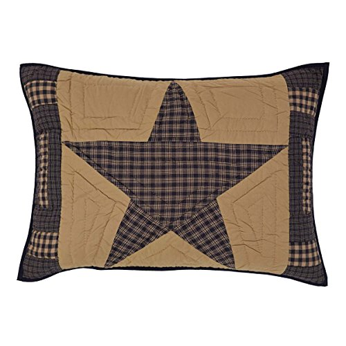 Teton Star Primitive Country Patchwork Standard Pillow Sham 21