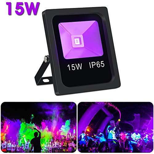 UV Black lights,LaluceNatz 15W Blacklight Flood Light IP65 W