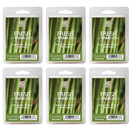Hosley's Fresh Bamboo Wax Cubes/Melts - Set of 6/2.5 oz each