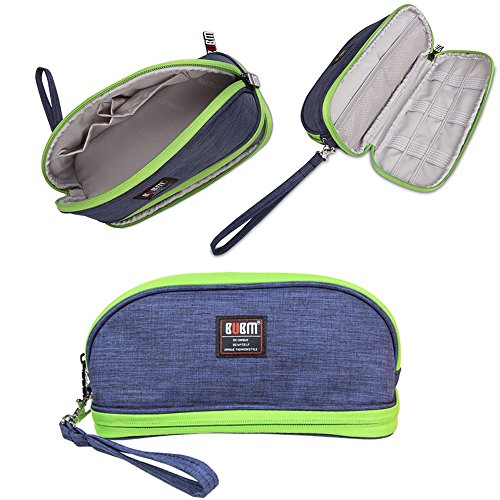 Makeup Bag /BUBM Double Layers Travel Cosmetic Pouch,Small P