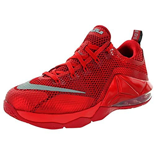 4f05113010d3 ... reduced nike kids lebron xii low gs unvrsty rd frlct slvr gym rd b  basketball shoe