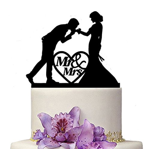 Homanda-Acrylic-Kissing-My-Love-Wedding-Couple-Wedding-Decoration-Cake-Topper-for-Wedding-Engagement-Bridal-Shower-Wedding