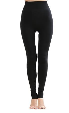 5614db3c2 Heekpek® Leggings Pantalon Collant Velours Fleece Thermique Hiver Chaud  Elastique Leggings Femme Hiver Longue Chaud Épais Coton Épais