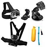 WABIS 7 in 1 Action Camera Accessories Head Strap Mount - Chest Belt Strap Harness Mount and Action Camera Kit with Case For Xiaomi Yi SJ4000 5000 6000 GoPro Hero 5 5 Session 4 3+ 3 2 1 Akaso Apeman