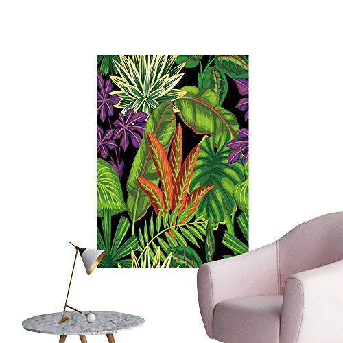 SeptSonne Wall Art Prints Tropical Leaves. Backgroun Made Out clipp mask for Living Room Ready to Stick on Wall,24