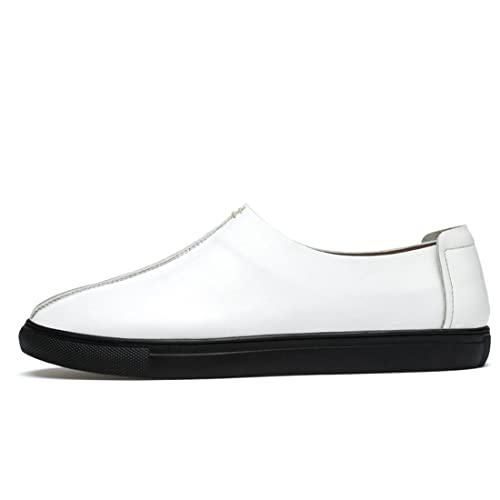 Boy's Men's Cap-Toe Simple Lightweight Casual Loafers Shoes