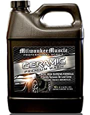 Milwaukee Muscle Car Shampoo - 50 Fl Oz - Professional Ceramic Car Wash Soap for Auto, Cars, Motorcycles, RV's and Boats - pH Neutral Formula - Rejuvenates Paint and Ceramic Coating for Cars