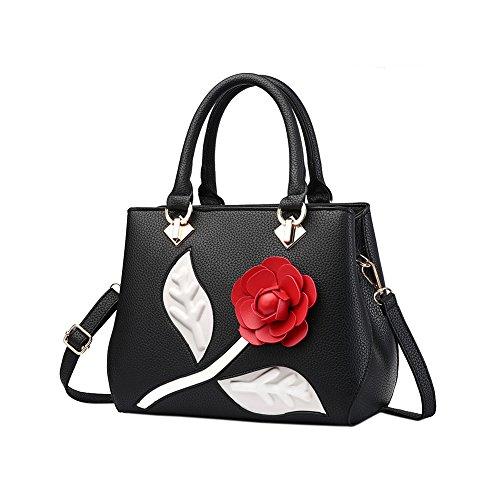 Fantastic Zone Roses Women Handbags Fashion Handbags for Women PU Leather Shoulder Bags Tote Bags Purse by Fantastic Zone