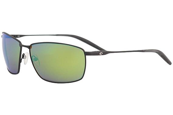 7417491d5ebd Costa Del Mar Turret 11 Black/Green Mirror Rectangle Polarized Sunglasses  62mm