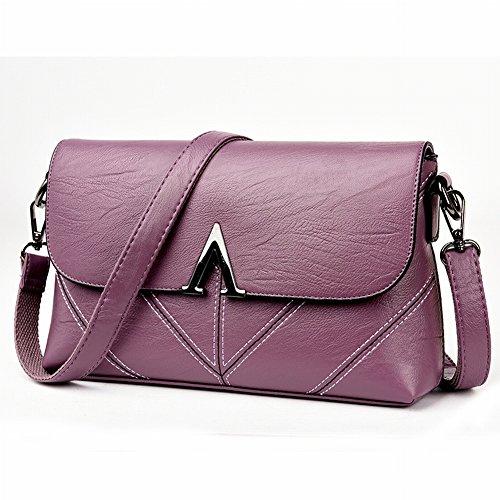 Mutter Messenger Tasche Mädchen Weiches Leder v Wort Umhängetasche Ihre Mutter Tasche in Der Handtasche Alle Spiel , lila