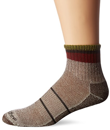 (Sockwell Men's Tipped Off Classic Alpaca Quarter Hiker Socks, Brown, Large/X-Large)