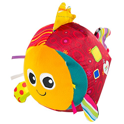 (LAMAZE - Rolling Rosa Toy, Help Baby Reach, Push, and Get Crawling by Supporting Tummy Time with Bright Colors, Easy Motion, and Fun Chimes, 6 Months and Older)