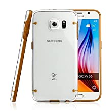 Tech Express (Tm) Gold Slim Line Bumper + Ultra Thin Transparent Translucent Clear Hard Luminous Glowing Fun Glow in the Dark Back TPU Cover Case for Samsung Galaxy Note 5 G920
