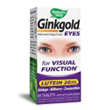 Nature's Way Ginkgold Eyes; 20 mg Lutein per serving; 60 Tablets