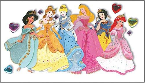 (Disney Princess Le Grande Jewel Dimensional Sticker-Multiple)