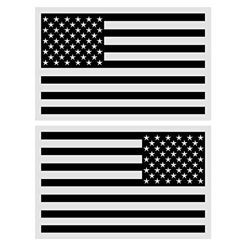 Set of 2 Black American Flag 8
