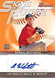 Anthony Whittington autographed baseball card (Anaheim Angels) 2005 Topps #SOFAW Signs of the Future Certified