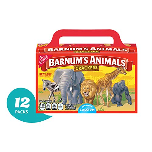 Barnums Animal Crackers - 12 Individual Snack Pack Boxes